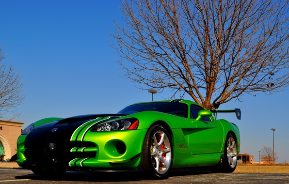 Picture tuning, sports car, drives, super, double, aggressive aerodynamic body kit, sports tires Michelin Pilot Sport …