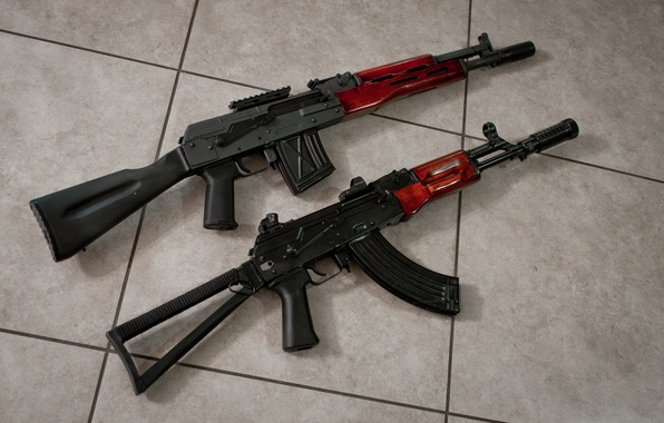 Picture background, machine, Kalashnikov, carabiner, The AKS-74, Saiga-12K