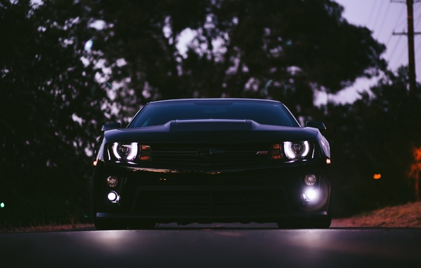 Picture car, the evening, camaro, chevrolet