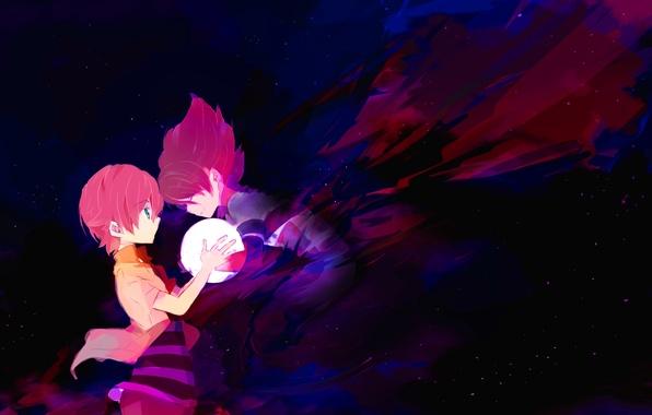 Picture the sky, stars, anime, art, boys, inazuma eleven, eleven lightning, umehara