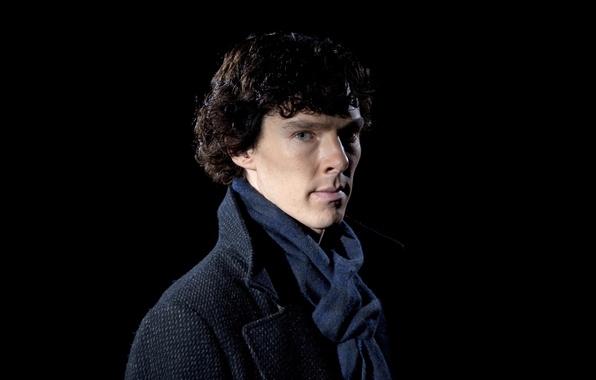 Picture actor, the series, black background, Benedict Cumberbatch, Benedict Cumberbatch, Holmes, holmes, Sherlock, Sherlock, bbc