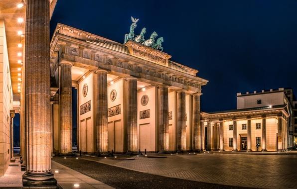 Picture night, the city, Germany, lighting, area, architecture, Germany, Germany, Berlin, Berlin, Brandenburger Tor, Brandenburg gate