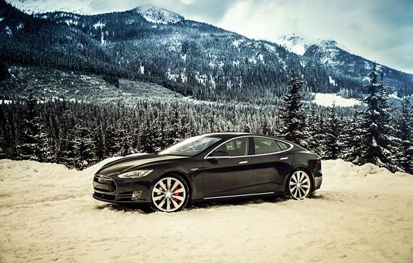 Picture Tesla, Model S, 2014, Tesla, P85D