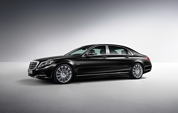 Picture black, Mercedes-Benz, Maybach, side, Mercedes, Black, S-Class, X222, 2015, S 500