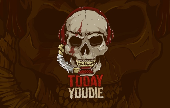Picture fear, Wallpaper, the game, skull, teeth, headphones, sound, Logo, skeleton, microphone, bone, logo, ears, DotA, …