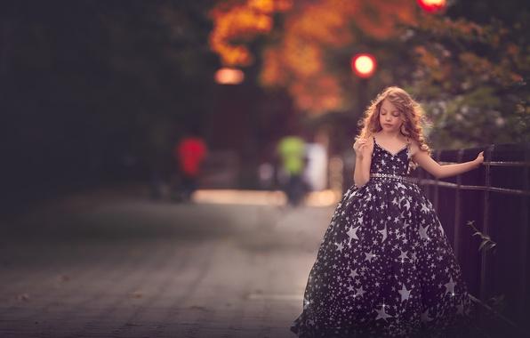 Picture dress, girl, bokeh