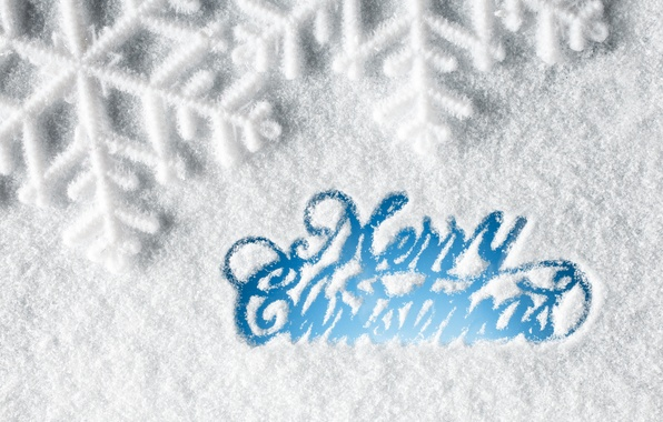 Picture winter, snow, snowflakes, New Year, Christmas, Christmas, winter, snow, Xmas, decoration, snowflake, Merry