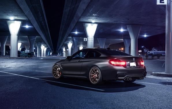 Picture BMW, Car, Bridge, Parking, Rear, Mode, Carbone