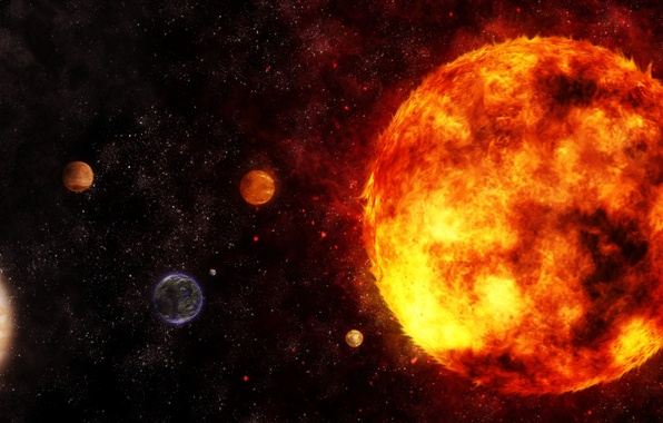 Picture stars, space, planet, galaxy, system