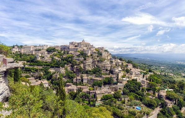 Picture landscape, France, mountain, home, Provence, Proud