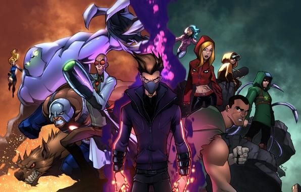 Picture heroes, art, villains, mutant