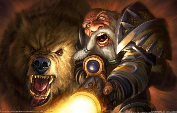 Picture Bear, WoW, World of Warcraft, Dwarf, The gun, Hunt, Pet, Dwarf, Hunter, Hunter, Shot