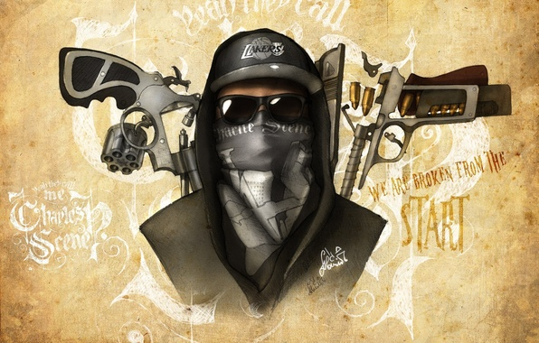 Picture Charlie Scene, Hollywood Undead, artwork, Notes from the Underground