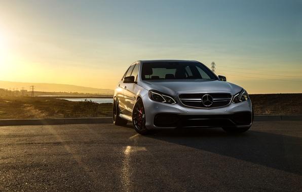 Picture Mercedes-Benz, Car, Carbon, Front, Sunset, Grey, Matte, Motorsport, Sonic, E63, Ligth, Mode, AMG S