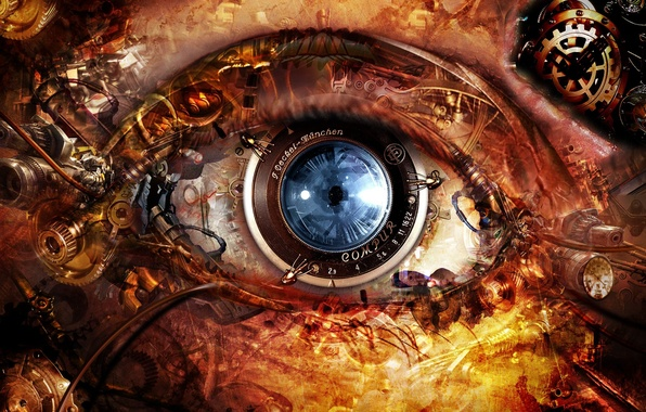Picture eyes, mechanism, lens