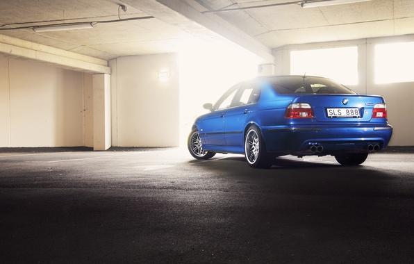 Picture BMW, E39, Lemans blue