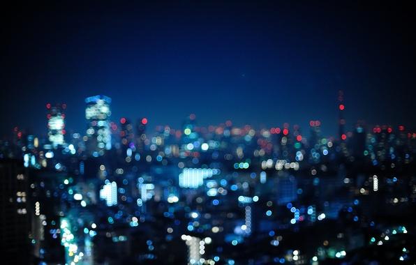 Picture night, the city, lights, photo, Wallpaper, Japan, Tokyo, Japan, Tokyo, wallpapers, bokeh