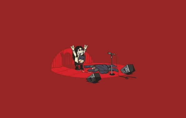 Picture metal, guitar, Batman, speakers, concert, bat, rock, ozy Osborne, ozzy