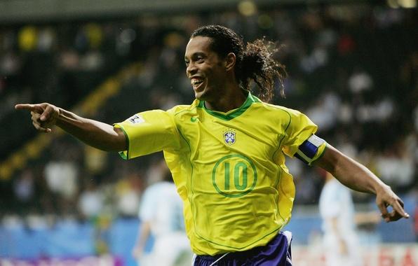 Wallpaper Football Football Brazil Barcelona Ronaldinho Soocer