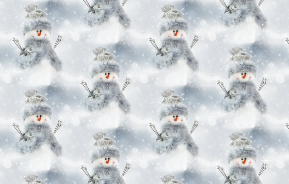 Picture background, holiday, texture, New year, snowman