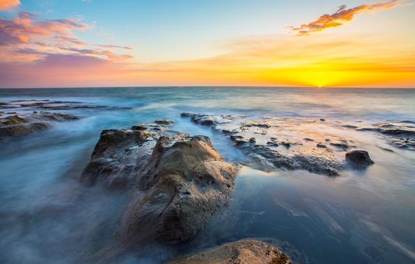 Picture landscape, sunset, nature, stones, the ocean, nature, oregon