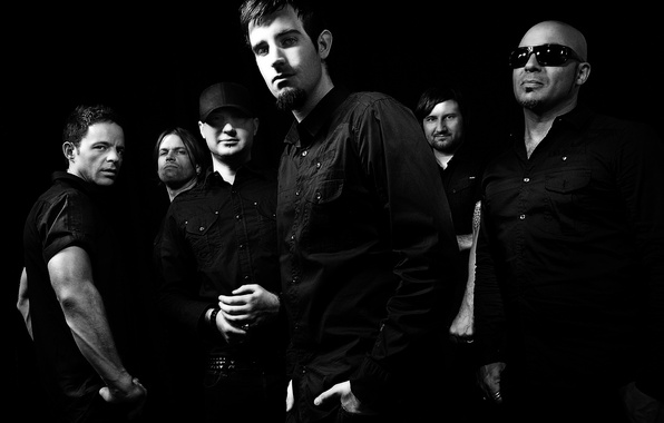 Picture black and white, group, b/W, Rock, Pendulum, Drum and Bass, composition