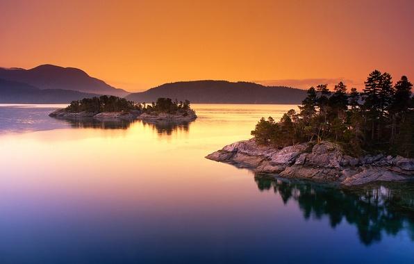 Picture lake, island, Canada