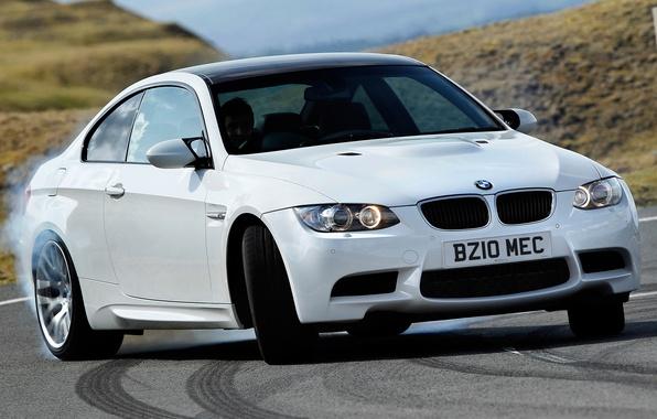 Picture Wallpaper, smoke, bmw, BMW, skid, car, coupe, e92, uk-spec