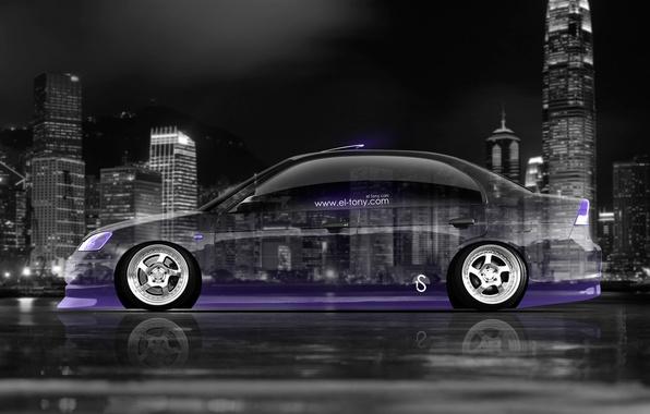 Picture Auto, Neon, Machine, Wallpaper, City, Honda, Honda, Car, Purple, Art, Art, Photoshop, Photoshop, Wallpapers, Neon, …
