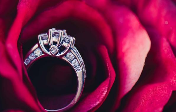 Picture stones, ring, wedding