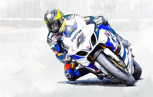 Picture figure, motorcycle, race, bike