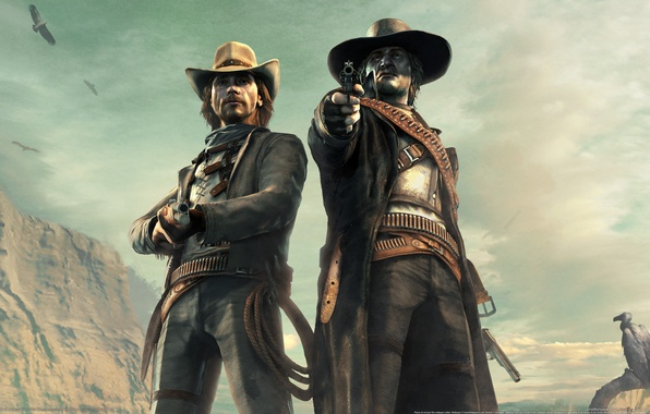 Picture desert, cowboys, Western, Call of Juarez: Bound in Blood