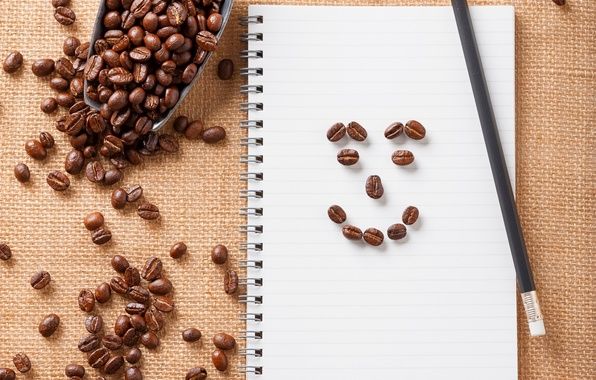 Picture smile, coffee, grain, smile, beans, coffee