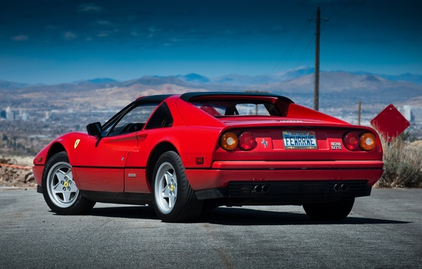 Picture Ferrari, Ferrari, rear view, GTS, 328, 1985