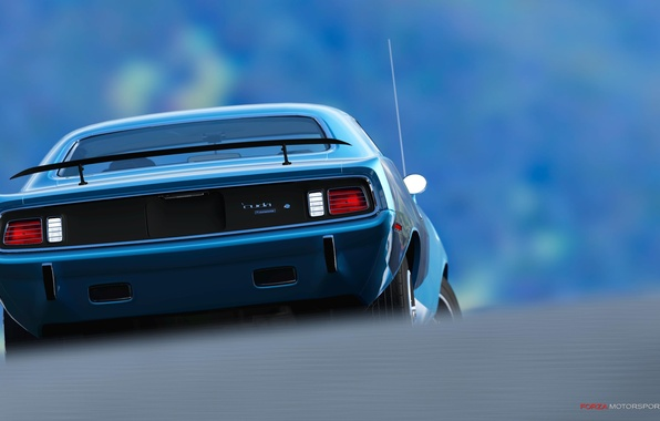 Picture ass, lights, Antena, spoiler, muscle car, muscle car, plymouth, cuda, hemi