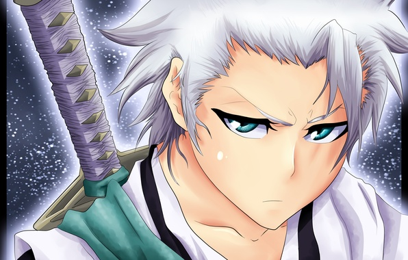 Picture look, weapons, sword, guy, Bleach, Bleach, dissatisfaction, art, hitsugaya toushirou, gone-phishing