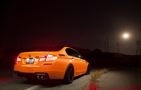 Picture light, orange, lights, BMW, BMW, Orange, back, f10
