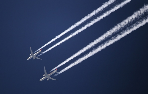 Picture the sky, trail, aircraft