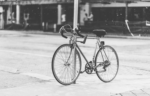 Picture drops, bike, the city, rain, street, city
