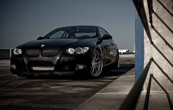 Picture black, drives, Bmw, Boomer, silver