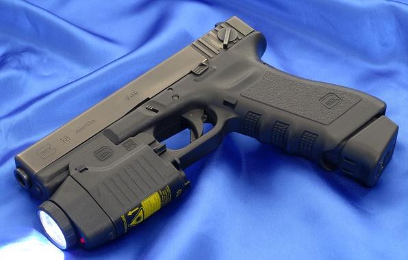Picture Gun, Austria, Lantern, Wallpaper, Weapons, Gun, Glock, Glock, Wallpapers, Canvas, Austria, Weapons, Automatic, Blue, 18C