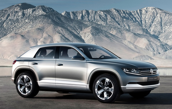 Picture mountains, silver, concept, volkswagen, the concept, the front, Volkswagen, the cross coupe, cross coupe