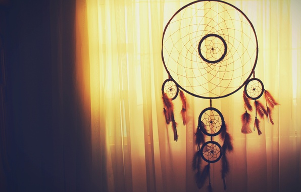 Picture feathers, blind, curtain, Dreamcatcher