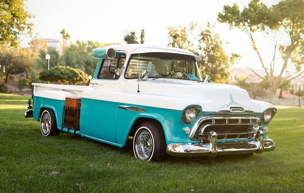 Picture retro, Chevrolet, classic, pickup, 1957, pickup