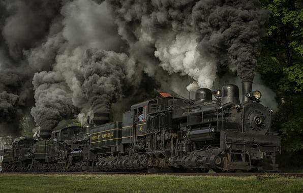 Picture train, the engine, railroad