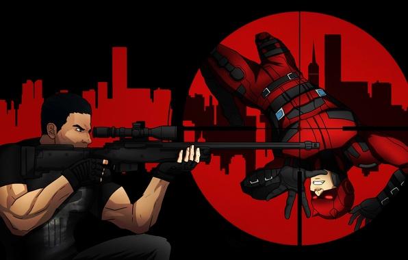 Picture the Punisher, Daredevil, daredevil, Marvel Comics, punisher, Matt Murdock, Frank Castle