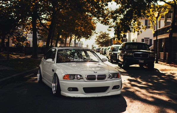 Picture white, BMW, BMW, white, tuning, E46