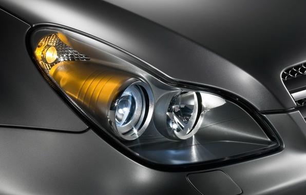 Picture machine, Mercedes-Benz, headlight, CLS, C219, metalik