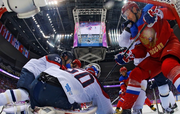 Picture hockey, Sochi 2014, The XXII Winter Olympic Games, Russia-Slovakia