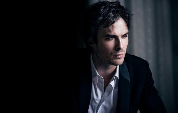 Picture costume, actor, male, the series, black background, The Vampire Diaries, The vampire diaries, Ian Somerhalder, …